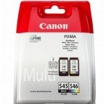 Cartus cerneala Original Canon PG-545 + CL-546 (Negru + Color) , compatibil MG2450/MG2550 (BS8287B005AA)