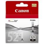 Cartus cerneala Original Canon CLI-521B Negru, compatibil iP3600/iP4600/MP540/MP620 (BS2933B001AA)