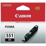 Cartus cerneala Original Canon CLI-551BK Negru, compatibil IP7250/MG5450/MG6350 (BS6508B001AA)