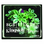 CF CARD KINGSTON; model: ELITE PRO 133X; capacitate: 8 GB; culoare: NEGRU