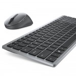 Kit Tastatura + Mouse Dell KM 7120, layout UK, Negru, USB, Wireless, Multimedia