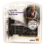 "LOGILINK Adapter: PCI-E 16x to 2 x SERIAL (DB-9); ""PC0016"""