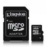 MICROSD KINGSTON; 32GB; CLASS 4; RETAIL