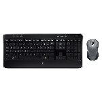 "Kit Tastatura + Mouse LOGITECH; model: MK 520; layout: UK; NEGRU; USB; WIRELESS; MULTIMEDIA, ""7N6C6"""
