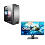 "Sistem complet GAMING ASUS,  Intel Core i7-6700, 3.40 GHz, HDD: 256 GB, RAM: 16 GB, video: Intel HD Graphics 530, ATI RADEON RX 580, TOWER + Monitor ASUS VG278QF, 27"", Full HD, NOU"