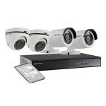 Kit supraveghere video cu 2 camere de exterior si 2 camere de interior