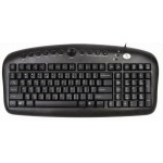 Tastatura A4TECH; model: KB-27; layout: US; NEGRU; USB/PS2; MULTIMEDIA
