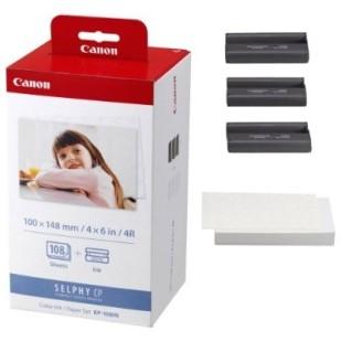 Cartus cerneala Original Canon KP-108IN Color, compatibil CP-400, hartie foto bonus (AJ3115B001AA)