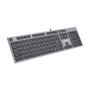 Tastatura silentioasa USB A4TECH, 2x USB ports, dark grey (KV-300H)