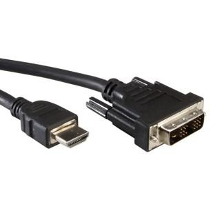 Cablu PC; HDMI-C T la DVI T; 1.8m.