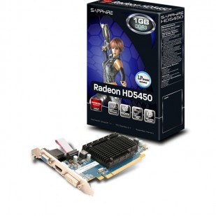 Placa video SPARKLE 1024 MB; GDDR3; 64 bit; PCI-E 16x; AMD Radeon HD 5450; VGA; DVI; HDMI