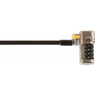 Cablu securitate Kensington ClickSafe Combination Master Coded, cifru cu patru discuri, otel, 1.5m lungime (K64678WW)