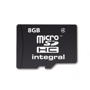 MICRO SD CARD INTEGRAL; model: INMSDH8G4NAV2; capacitate: 8 GB; clasa: 4; culoare: NEGRU