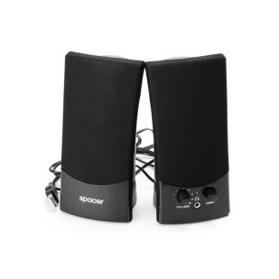 BOXE 2.0 SPACER, RMS: 3Wx2, control volum, mufa casti, black, USB power (SPB-217)