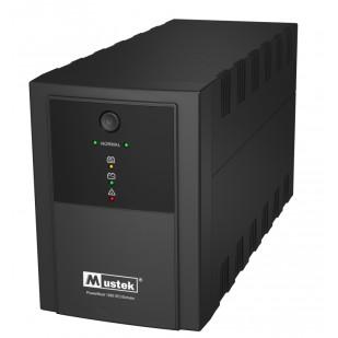 UPS  MUSTEK PowerMust 1260 (1200VA) Line Interactive, IEC/Schuko (include timbru verde 3 lei)
