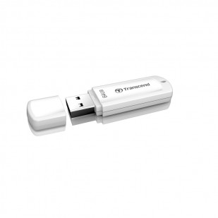 USB 2.0  64GB TRANSCEND JetFlash 370 White (TS64GJF370)