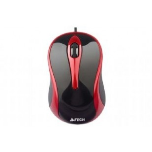 Mouse USB A4TECH V-Track Padless, Black/Red (N-350-2)
