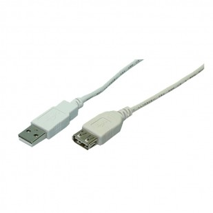 Cablu USB 2.0 - prelungitor, M/T, grey, 2,00m, Logilink (CU0010)