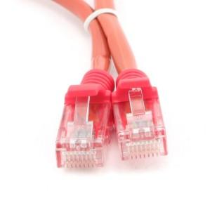 Cablu UTP Patch cord cat. 5E, conectori 2x 8P8C, lungime cablu: 0.5m, bulk, Rosu, GEMBIRD (PP12-0.5M/R)