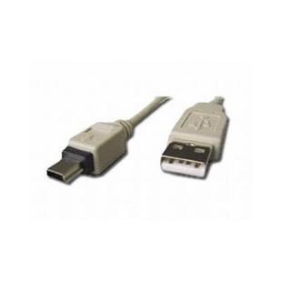 Cablu de date USB2.0 A tata la mini USB 5PM tata, lungime cablu: 1.8m, bulk, Alb, GEMBIRD (CC-USB2-AM5P-6)