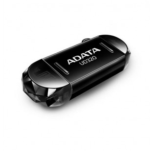 USB 2.0 16GB ADATA UD320 On-The-Go Black (AUD320-16G-RBK)