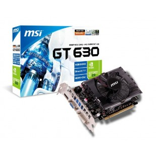 Placa video MSI 4096 MB; GDDR3; 128bit; PCI-E 16x; NVIDIA GeForce GT 630; VGA; DVI; HDMI