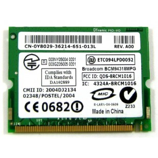 DELL LATITUDE D610 WIFI CARD 0Y8029