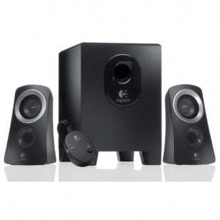 "BOXE Logitech 2.1 ""Z313""  RMS power: 25 W (15W + 2 x 5W), Black ""980-000413""    (include timbru verde 1 leu)"