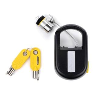 Cablu securitate notebook Kensington MicroSaver, otel, retractabil, 1.20m lungime, 5.3mm grosime, tehnologie avertizare furt, doua chei (K64538EU)