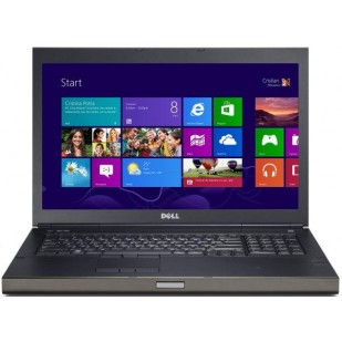 "Laptop DELL, PRECISION M6800,  Intel Core i7-4900MQ, 2.80 GHz, HDD: 256 GB, RAM: 16 GB, unitate optica: DVD RW, video: Intel HD Graphics 4600, nVIDIA Quadro K4100M, webcam, 17.3"" LCD (FHD), 1920 x 1080"