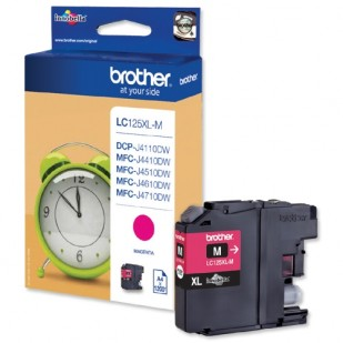 Cartus cerneala Original Brother Magenta LC125XLM compatibil MFC-J4410DW/MFC-J4510DW, 1200  pag. (LC125XLM)