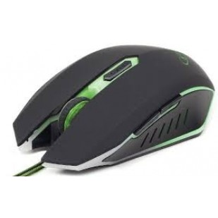 Mouse GEMBIRD Gaming (MUSG-001-G), 2400dpi, USB, green