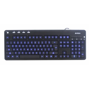 Tastatura A4TECH; model: KD-126-1; layout: US; NEGRU; USB; MULTIMEDIA; BACKLIGHT