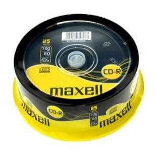 CD-R 700MB 52x 25buc Maxell (CD-R-700MB-52X-SHR25-MXL)