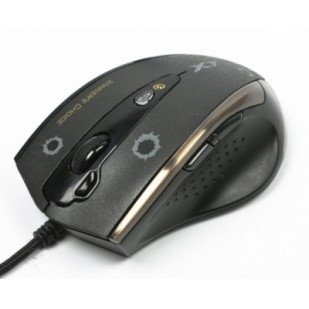 Mouse Optic Gaming USB A4TECH (F3), Black, wired cu 7 butoane si 1 rotita scroll, rezolutie ajustabila peste 2000dpi, Full Speed 1000Hz