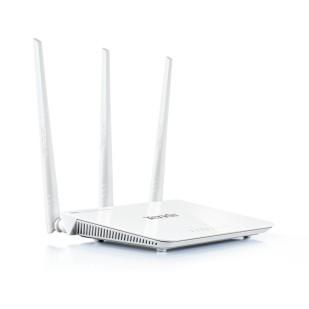 Router Wireless N 300Mbps, 3x LAN 10/100Mbps, 1x WAN 10/100Mbps, 3 antene fixe 5dBi, TENDA F303