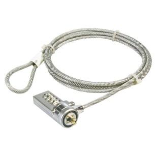 Cablu antifurt laptop, cifru, metal, Logilink (NBS002)