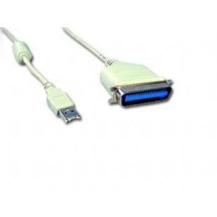 Cablu de date convertor USB la Paralel C36M, lungime cablu: 1.8m, bulk, Alb, GEMBIRD (CUM360)