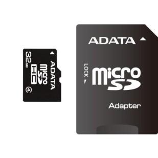 MICRO SD CARD ADATA; model: AUSDH32GCL4-RA1; capacitate: 32 GB; clasa: 4; culoare: NEGRU