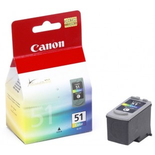 Cartus cerneala Original Canon CL-51,  Color, compatibil IP2200/MP150/MP160/MP170/MP180, 3 x 7 ml (BS0618B001AA)