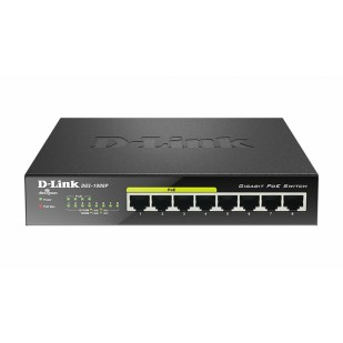 Switch fara management 8 port-uri Gigabit. 4 port-uri PoE, D-LINK (DGS-1008P)