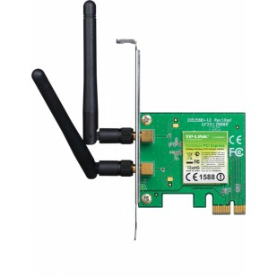Placa de retea Wireless PCI-E 300Mbps 2T2R TP-LINK TL-WN881ND, 2 antene detasabile