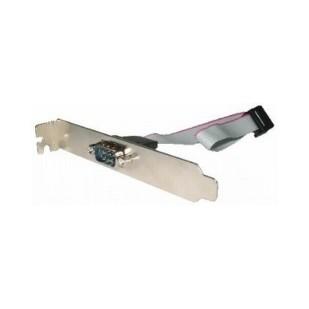 Cablu adaptor intern, conectori Serial Port IDC 10pin la DB9, lungime cablu: 25cm, suport metalic, bulk, GEMBIRD (CCDB9RECEPTACLE)