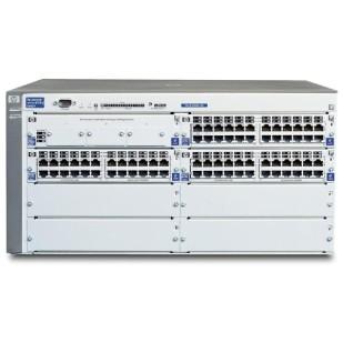 "SWITCH HP; model: PROCURVE 4108GL; MANAGEMENT; PORT CONSOLA; PORTURI: 48 x RJ-45 10/100;  x RJ-45 ; ""J4865A""; SH"