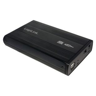 """RACK EXTERN 3.5"""" USB2.0/SATA, Alu, black, LOGILINK (UA0082)"""