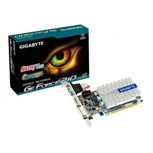 Placa video GIGABYTE 1024 MB; GDDR3; 64 bit; PCI-E 16x; NVIDIA GeForce GT 210; VGA; DVI; HDMI