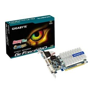 Placa video GIGABYTE 1024 MB; GDDR3; 64 bit; PCI-E 16x; NVIDIA GeForce GT 210; VGA; DVI; HDMI