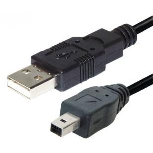 Cablu PC; USB 2.0 A M la mini-USB M 4 pini; 1.8m