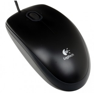 MOUSE Logitech   B100 Optical USB Mouse, black 910-003357