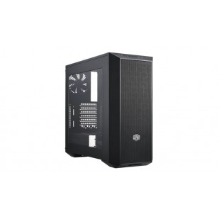 "CARCASA COOLER MASTER. MasterBox 5, window version, mid-tower, ATX,  2* 120mm fan (incluse), I/O panel, black ""MCX-B5S1-KWNN-11"""